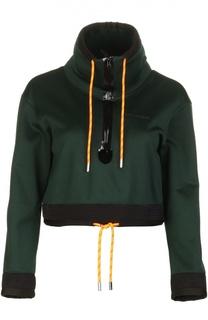 Укороченный пуловер с воротником-стойка и манжетами Dsquared2