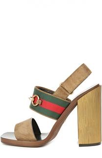 Босоножки Querelle на устойчивом каблуке Gucci