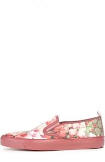 Слипоны Board с принтом Blooms Gucci