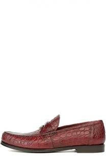 Лоферы из кожи крокодила Dolce & Gabbana