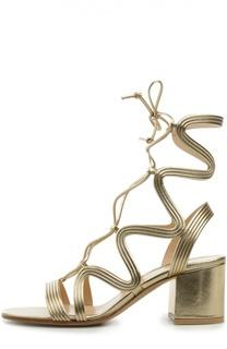 Кожаные босоножки Hydra на шнуровке Gianvito Rossi