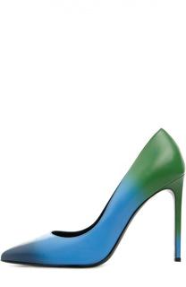 Кожаные туфли Paris Skinny с эффектом деграде Saint Laurent