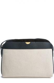 Текстильная сумка с кожаной отделкой The Row