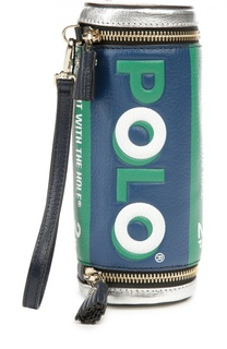 Кожаный клатч Polo Mints Anya Hindmarch