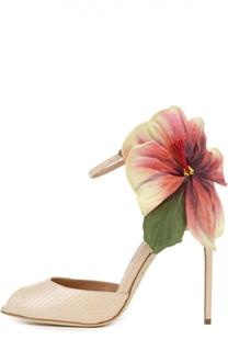 Кожаные босоножки Flower Oriana на шпильке Brian Atwood