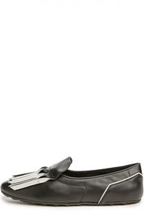 Туфли домашние Gomma с бахромой Tod's
