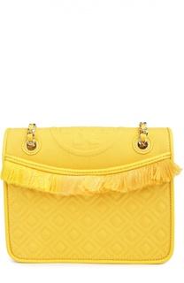 Текстильная сумка Fleming medium с отделкой из кожи Tory Burch