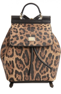 Маленький рюкзак Sicily Backpack с принтом Dolce & Gabbana