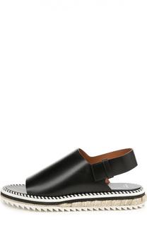 Кожаные сандалии на контрастной подошве Givenchy