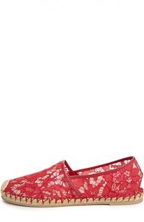 Кружевные эспадрильи Glamorous с узором Valentino