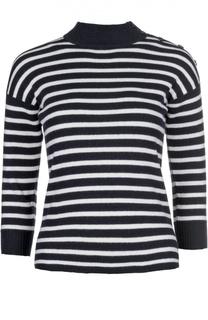 Пуловер с ложным воротником и укороченным рукавом Alexander McQueen