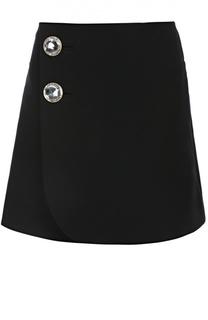 Мини-юбка А-силуэта с декоративными пуговицами Marni