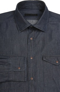 Рубашка из денима с воротником кент Stanbridge