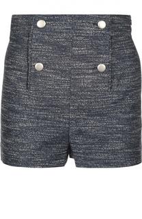 Мини-шорты с завышенной талией и декоративными пуговицами Balenciaga