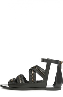 Кожаные сандалии-гладиаторы Needle Flat Jimmy Choo