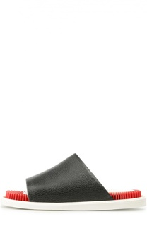 Кожаные шлепанцы Eklektik на контрастной подошве Kenzo