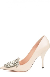 Кожаные туфли с кристаллами Rochas