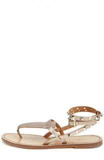 Кожаные сандалии Rockstud Double с ремешками Valentino