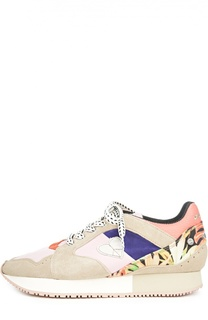 Комбинированные кроссовки Morgan с аппликацией Dolfie