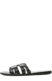 Кожаные шлепанцы Silicon Flower Ancient Greek Sandals