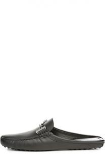 Кожаные сабо с пряжкой Tod's