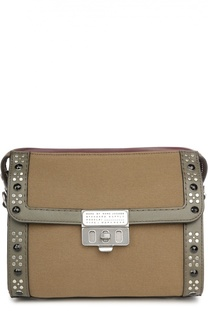 Текстильная сумка Canvas Espionage 25 с отделкой из кожи и заклепками Marc Jacobs