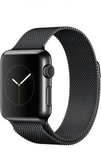 Apple Watch 38mm Space Black Stainless Steel Case with Milanese Loop Apple