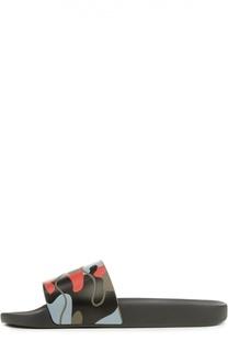 Резиновые шлепанцы с принтом Valentino