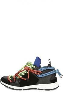 Кроссовки с разноцветными шнурками Dsquared2