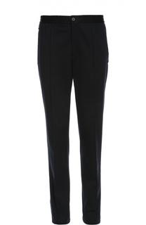 Хлопковые брюки с поясом на резинке Lanvin Contemporary