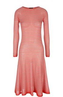 Приталенное платье миди в полоску Giorgio Armani