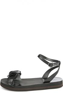 Кожаные сандалии Charlotte с декором Moncler