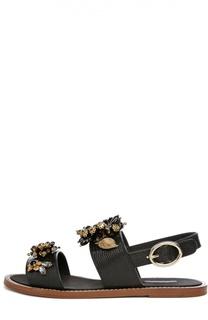 Кожаные сандалии Bianca с декором Dolce & Gabbana