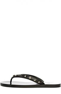 Кожаные шлепанцы Rockstud Valentino