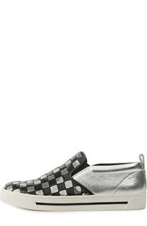 Кожаные слипоны Mercer с пайетками Marc Jacobs