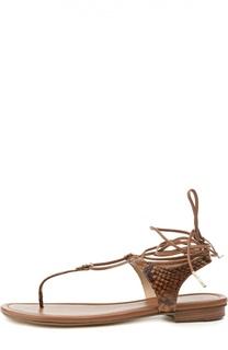 Кожаные сандалии Sofia на шнуровке Michael Michael Kors