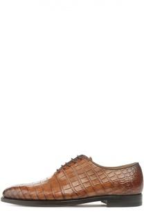Туфли из кожи крокодила Kiton
