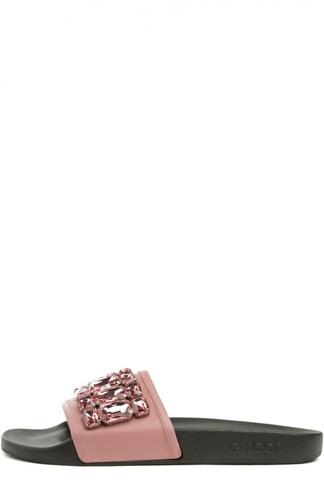 Шлепанцы Pursuit с кристаллами Gucci