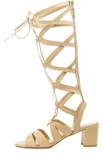 Кожаные босоножки Grecian на шнуровке Stuart Weitzman