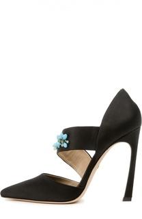 Туфли с вышивкой кристаллами Giambattista Valli