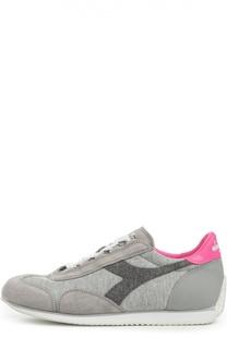 Комбинированные кроссовки с цветным задником Diadora Heritage