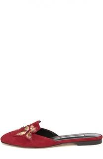 Домашние туфли Hexi с нашивками Oscar de la Renta