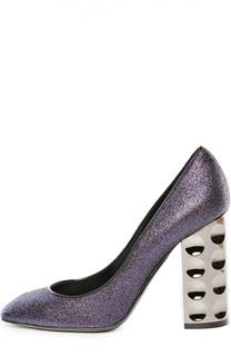 Туфли Carnaby с глиттером на устойчивом каблуке Nicholas Kirkwood