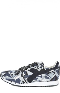 Текстильные кроссовки с принтом Diadora