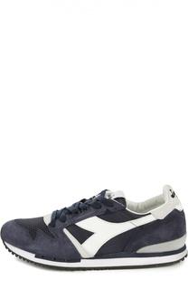 Замшевые кроссовки со вставками Diadora