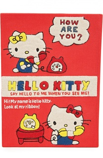 Клатч в виде книги с аппликацией Hello Kitty Olympia Le-Tan