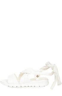Кожаные сандалии на лентах Moncler
