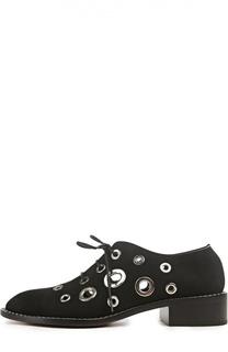 Замшевые ботинки с декоративными люверсами Proenza Schouler