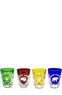 Набор из 4-х стаканов для виски Hunt Tsar