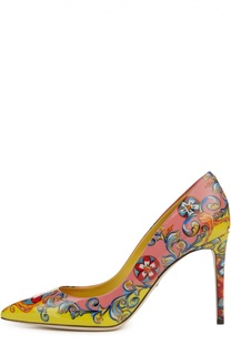 Лаковые туфли Kate с принтом Caretto Siciliano Dolce & Gabbana